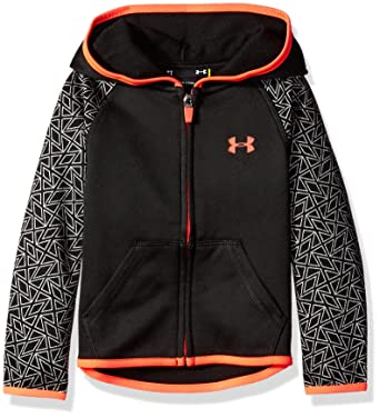 premium selection 839f7 ab720 Under Armour Toddler Girls  UA Logo Zip Hoodie, Black Grid, ...