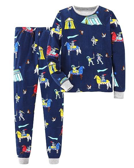 Zebra Fish Little Boys Pajamas Set children Cotton Sleepwear 100% Cotton Fabric Kids PJS children