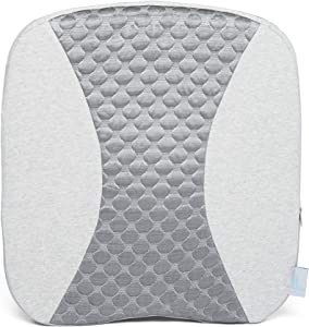 BROOKSTONE Posture-Tech 2-in-1 Back & Seat Cushion - Dual Design Features Lumbar Support on One Side, Contoured Seat Cushion on The Other - Supportive Memory Foam with Cooling Comfort Fabric