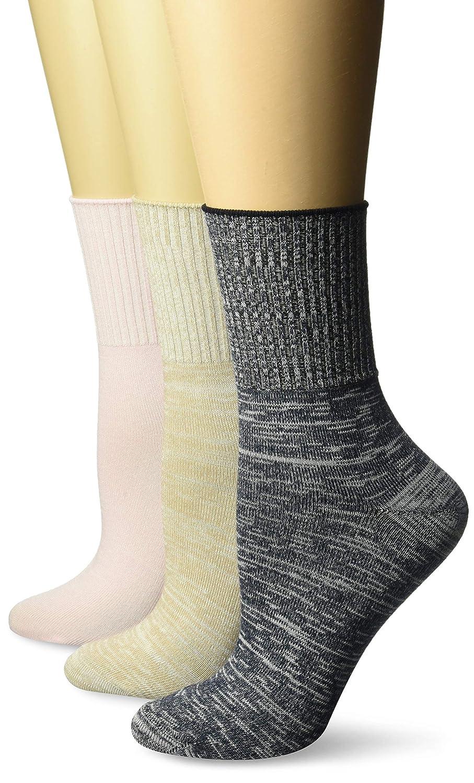 473bbc46917ed Hanes Women's Comfortsoft Cuff Sock 3 Pack at Amazon Women's Clothing store: