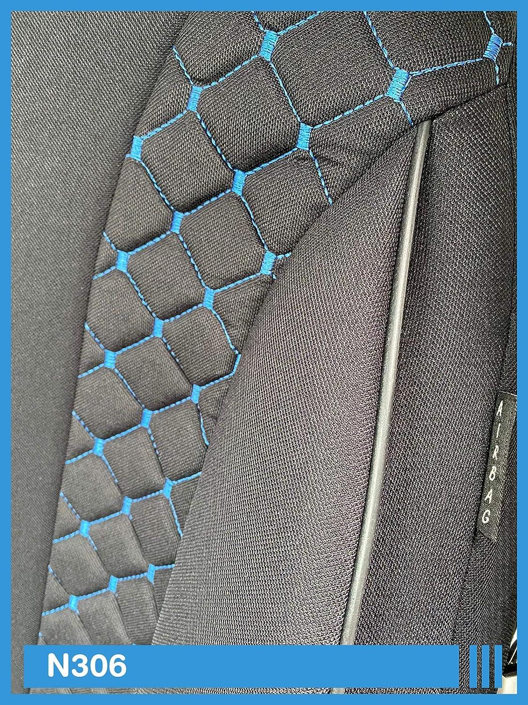 schonbezug autositz Sportsitz Sitzbezug-Set Ma/ß Sitzbez/üge kompatibel mit Skoda Kamiq Fahrer /& Beifahrer ab 2019 Farbnummer: N306 Autoschonbezug vordersitze