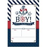 Amazon its a boy nautical baby shower invitations with tear nautical baby shower invitations ahoy its a boy baby shower invites 20 fill in filmwisefo Images