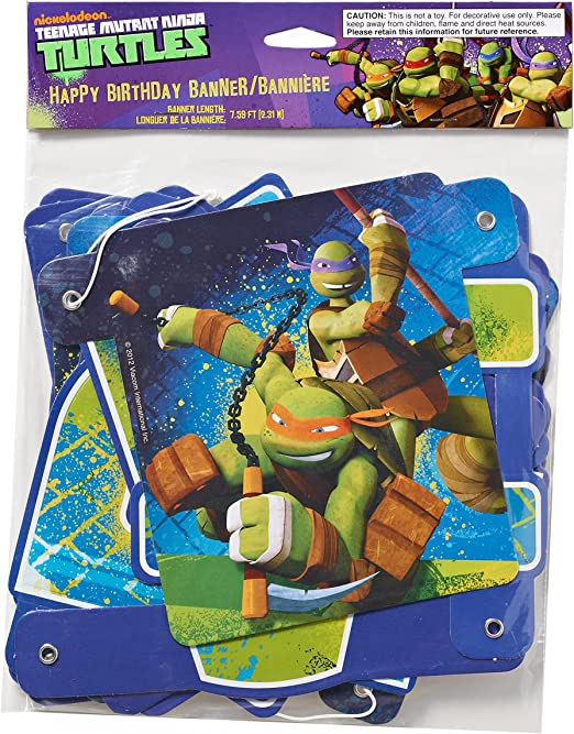 American Greetings Teenage Mutant Ninja Turtles (TMNT) Party Supplies, Party Favor Buttons (8-Count)