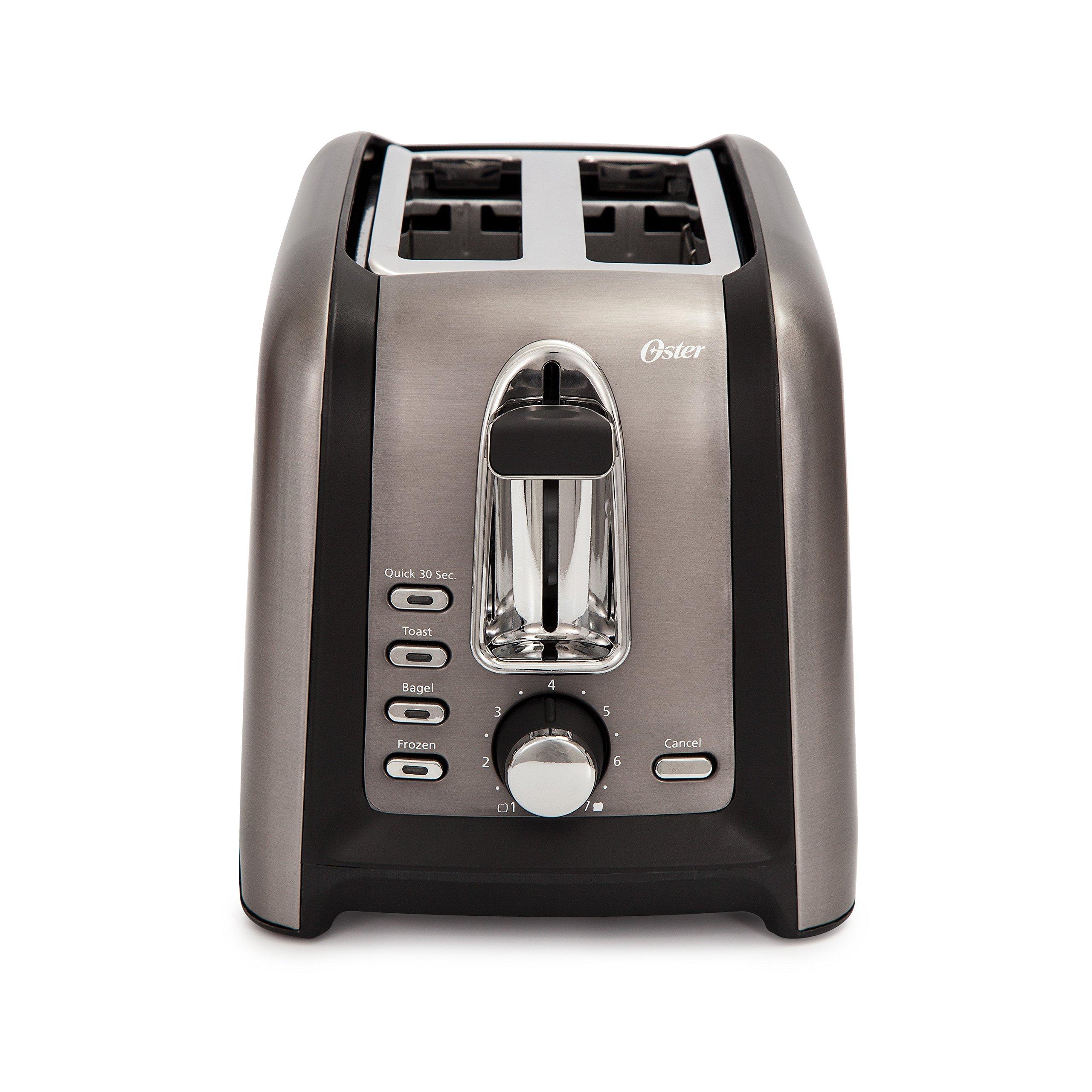 Oster TSSTTRGM2L Stainless Toaster, Black