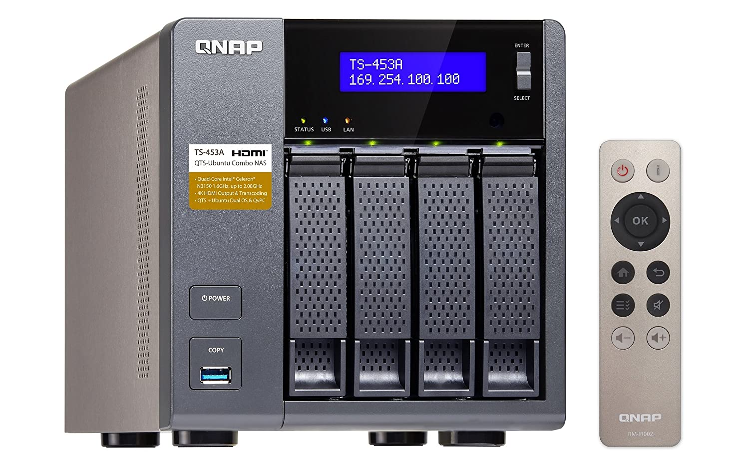 【Cybersale】QNAP TS-453A-4G NAS System 4-Bay QTS-Linux Combo NAS