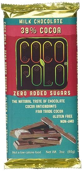 Coco Polo Barras de chocolate con leche y cacao de 3 onzas (Pack de 5