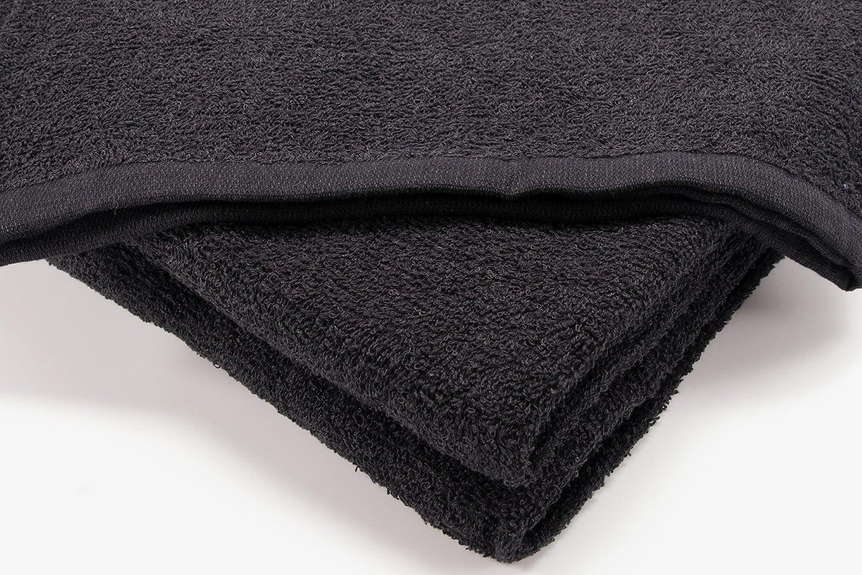 I LIKE Confezione da 12 Pezzi Asciugamani da 300 g/m² Viso (30 x 30 cm) 100% Cotone Bianco