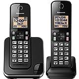 Panasonic KXTGC382B Dect_6.0 2-Handset Landline Telephone