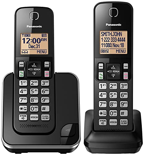 amazon com panasonic kx tgc352b expandable cordless phone with rh amazon com