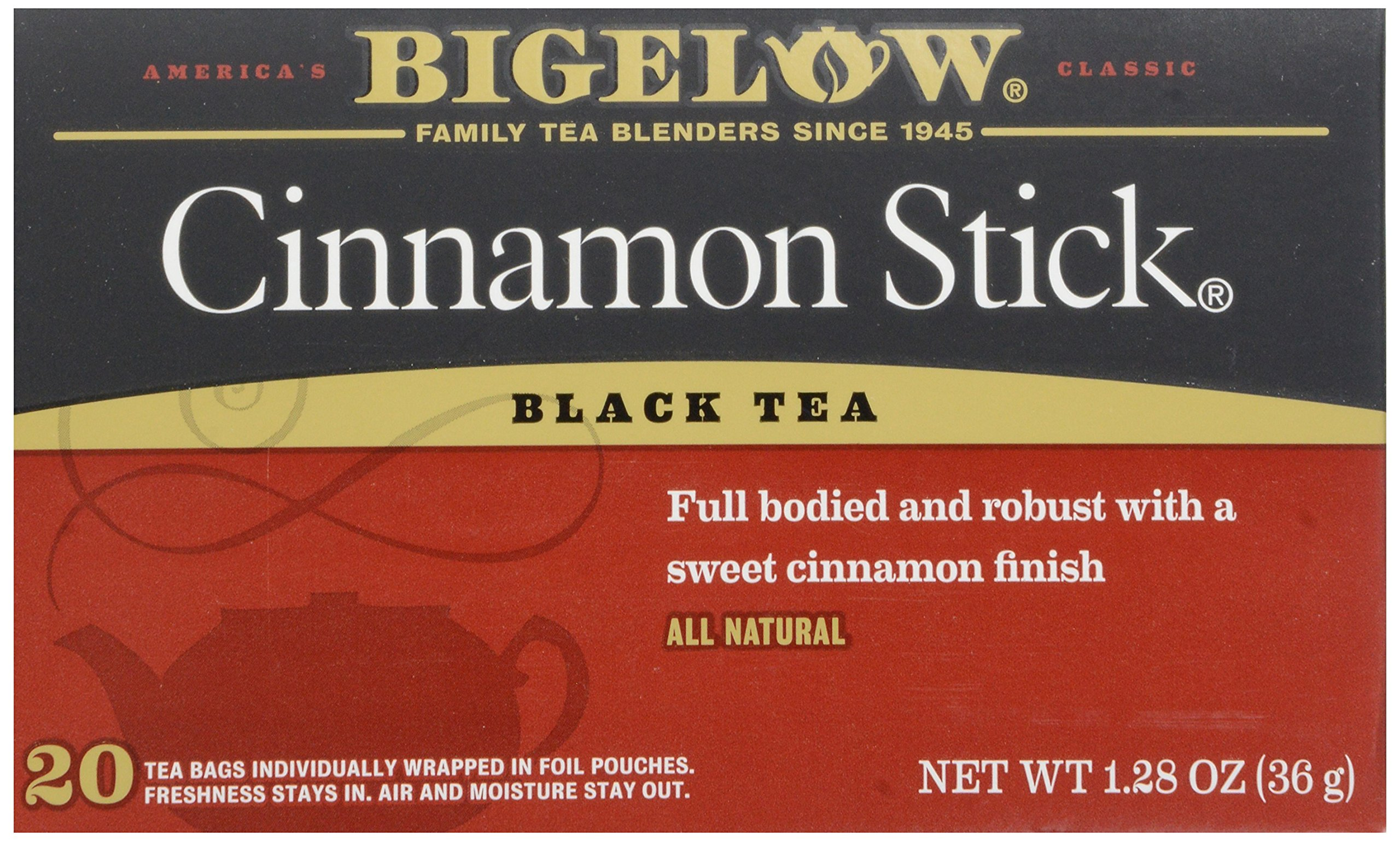 Bigelow Tea - Black Tea Cinnamon Stick - 20 Tea Bags