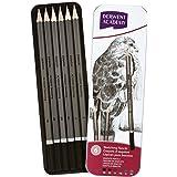 DERWENT Academy Sketching Pencils Tin, 3B-2H (Set of 6)