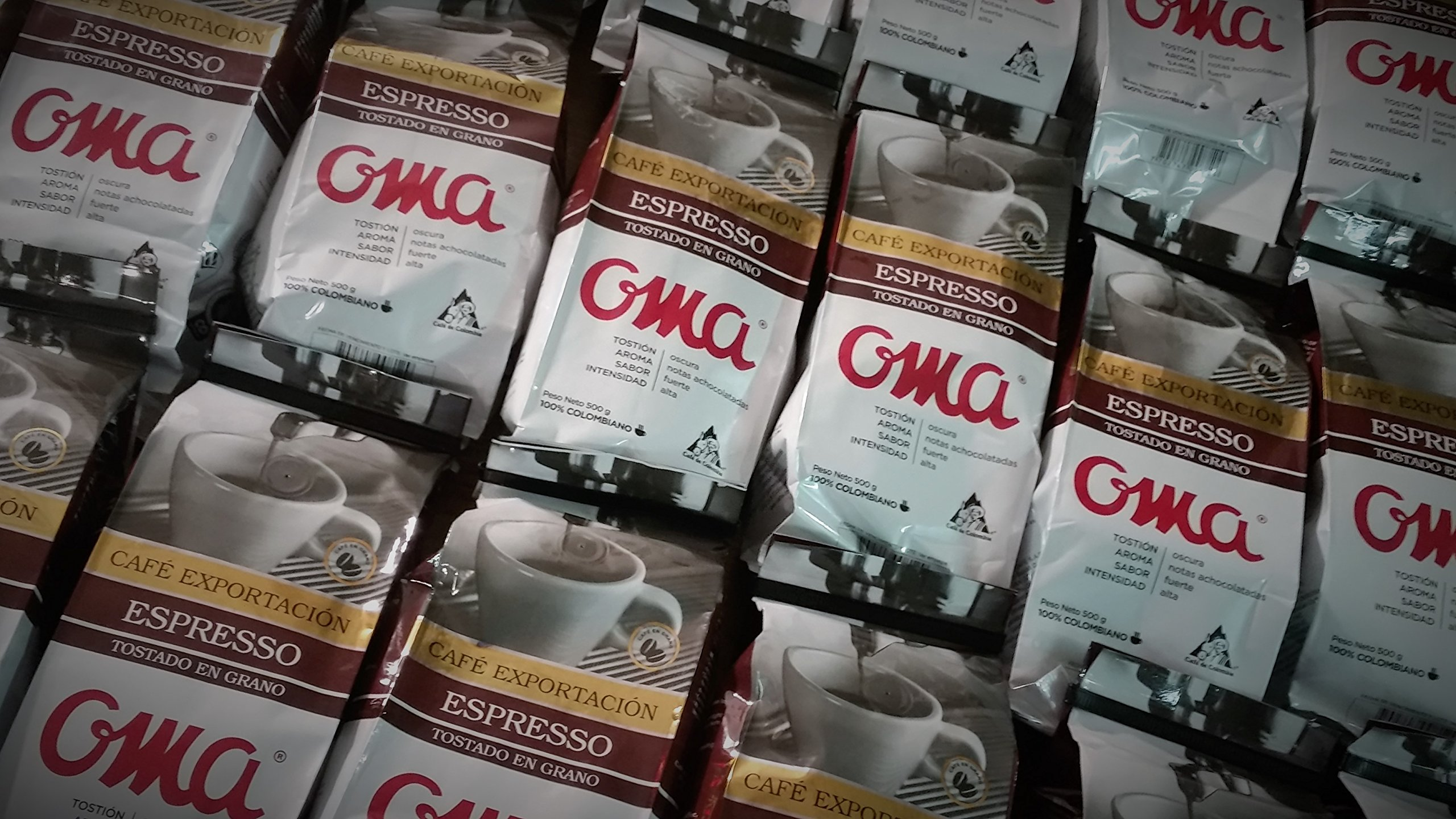 Coffee Dark Roasted OMA ESPRESSO Beans 10 pounds full BOX, Arabica Colombian Coffee Beans