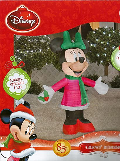 disney minnie mouse bow holly airblown 35 ft tall led christmas inflatable