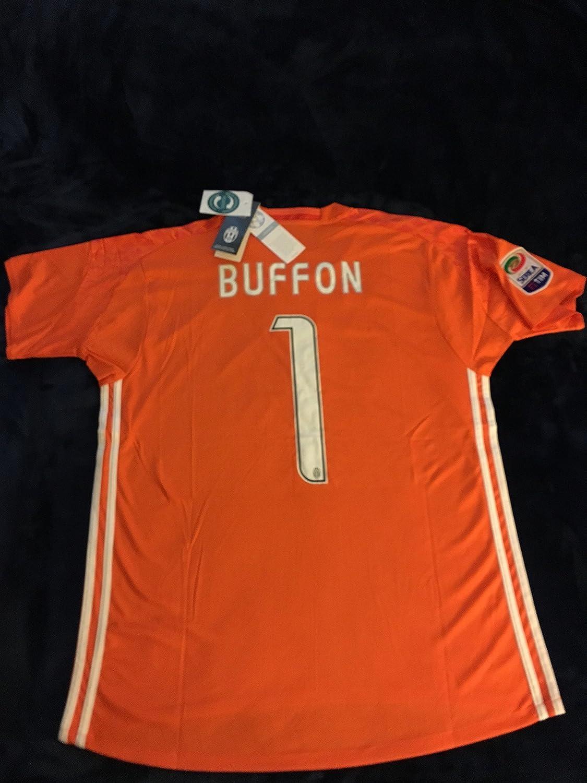 a69eb5a31 2016 2017 Juventus FC Trikot 1 Gianluigi Buffon Home Goalkeeper Football  Soccer Jersey Kit In Orange: Amazon.ca: Books