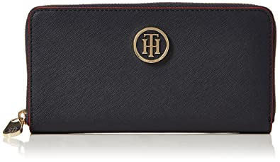 Tommy Hilfiger Damen Honey Lrg Za Wallet Geldbörse Blau Tommy Navy