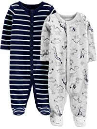 Simple Joys by Carter s Boys  2-Pack Cotton Footed Sleep and Play a4cc23bf2