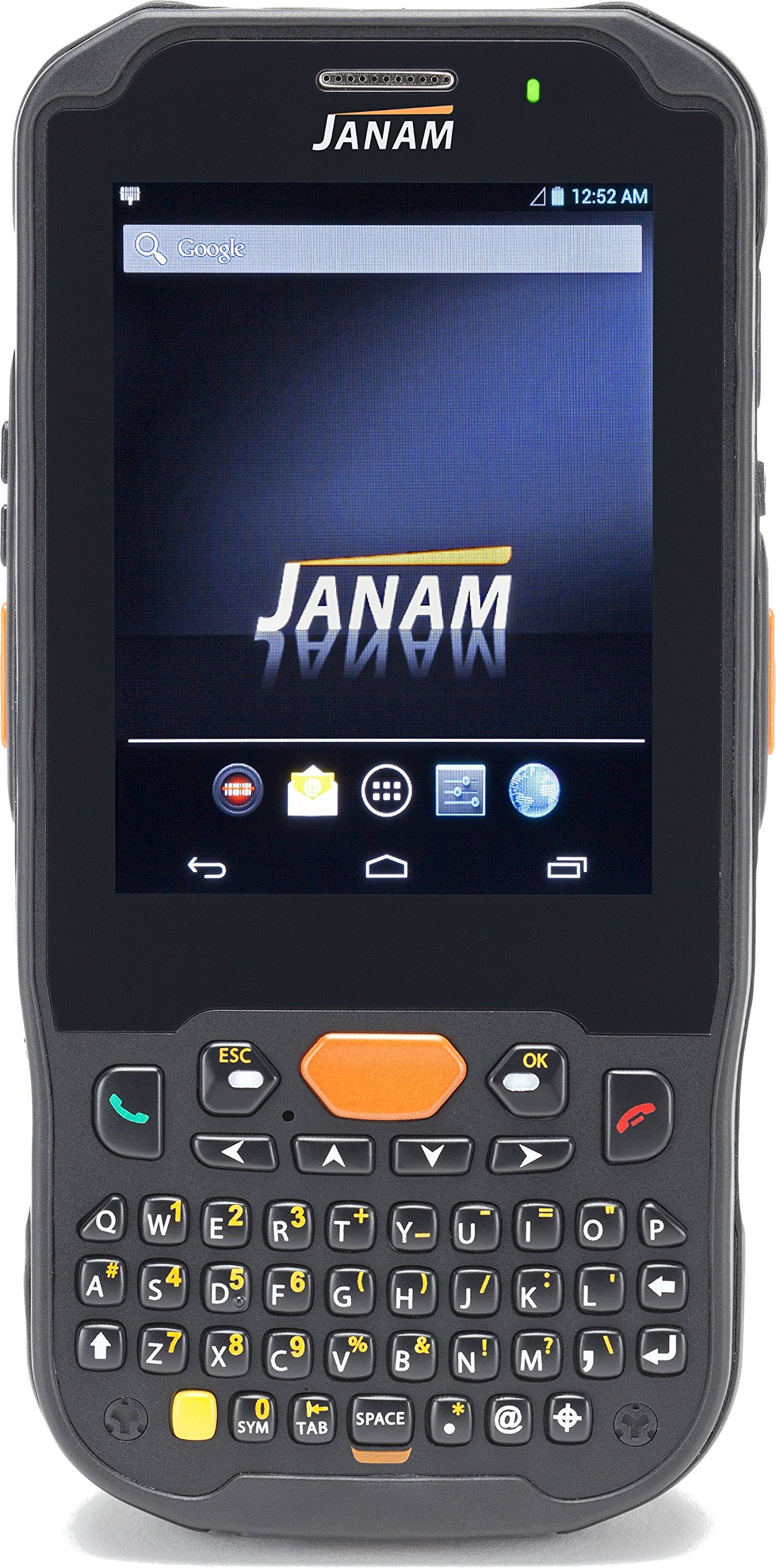 Janam XM5-ZNKARDGV00 Series XM5 Handheld Computing Devices, Android JB 4.2, 1D Laser Scanner, 802.11ABGN, GPS, HD RFID, Camera, 4000 mAh, Numeric Keypad