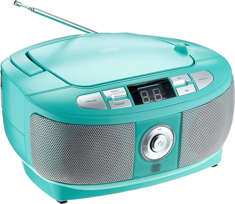 Dual 75398/P 49/ Radio FM, Boom Box, Altavoces est/éreo, Red de Funcionamiento con bater/ía, port/átil /1/Mint Radio con Reproductor de CD
