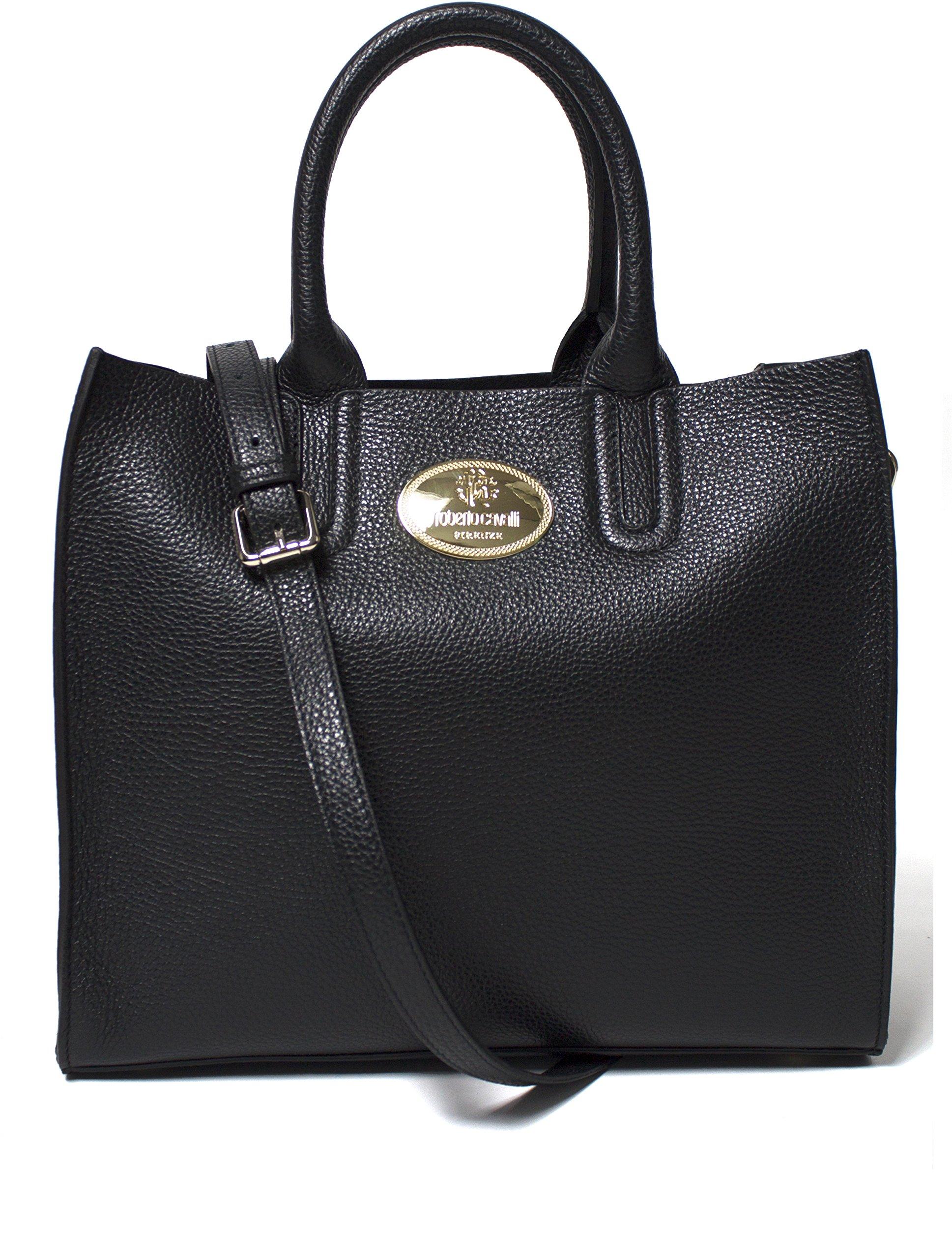 Roberto Cavalli Women's Leather Tote Handbag Black by Roberto Cavalli