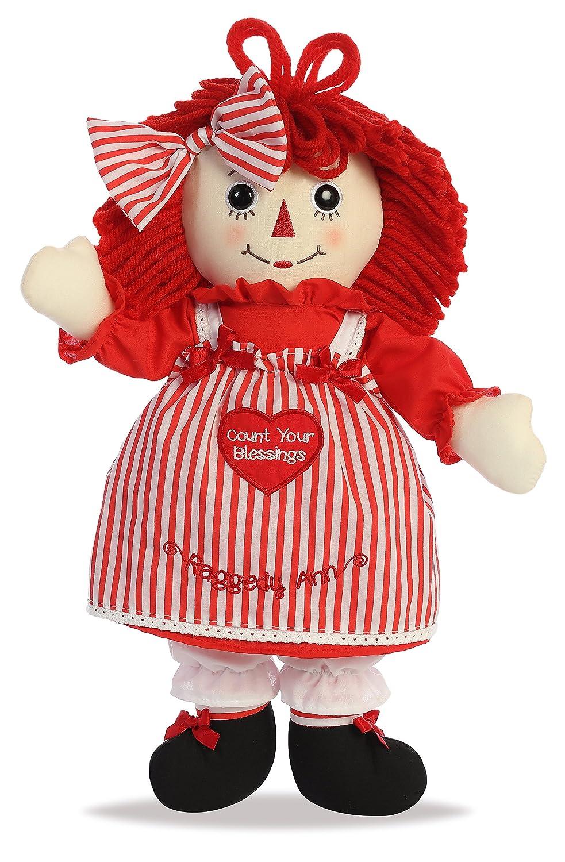 15465 Aurora World Raggedy Ann Plush Toy Red//Blue//White Inc