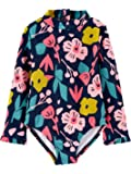 Simple Joys by Carter's Girls' Toddler Assorted Rashguard Sets, Navy Floral, 3T