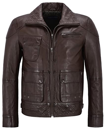 Mens M-139 Brown Soft Napa Stylish Luxury Casual Real Leather Fashion Jacket (S