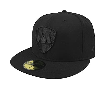 NEW ERA 59Fifty Hat Rayados De Monterrey Liga Mexicana Black Fitted Cap (6  7  ba7bc020bd0