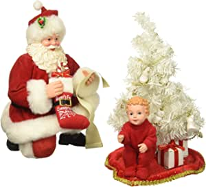 """Department 56 Possible Dreams Santa Claus """"Baby's First Tree"""" Clothtique Christmas Figurine"""