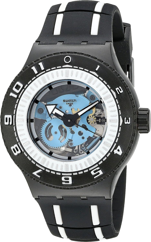 Swatch Men s SUUB101 Feel the Sea Analog Display Quartz Two Tone Watch
