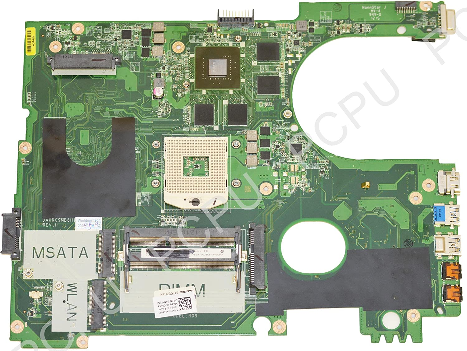 MPT5M Dell Inspiron 17R 7720 650M/2GB Intel Laptop Motherboard s989
