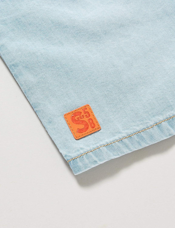 Chicco Camicia Jeans Denim Manica Corta Bimbo Bambino