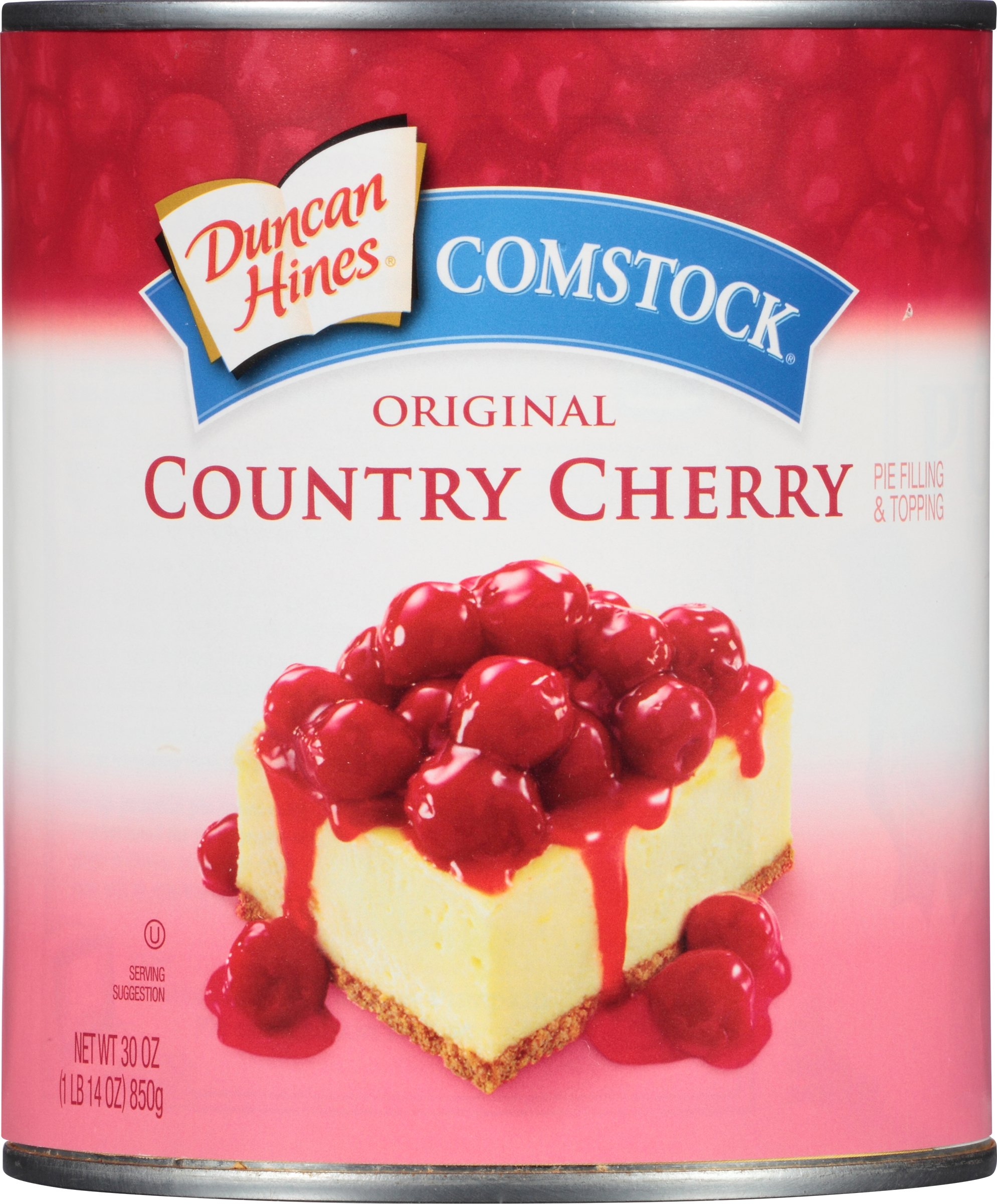 Comstock Original Pie Filling & Topping, Country Cherry, 30 Ounce (Pack of 12)