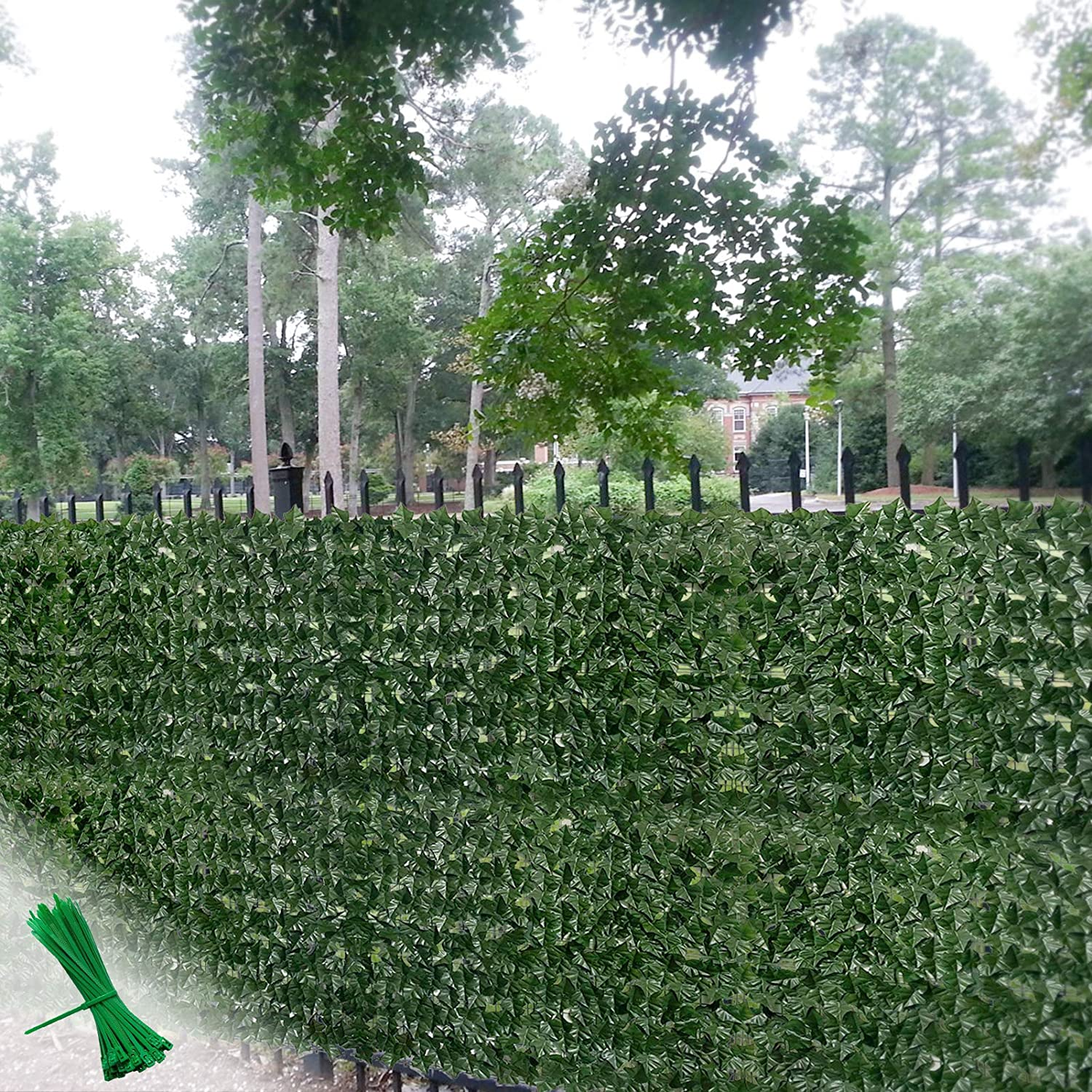 Gilaree 39x 118 in Aritificial Ivy Fence Wall Décor Faux Ivy Privacy Fence Screen Plant Leaves and Vine Decoration for Home, Yard, Garden