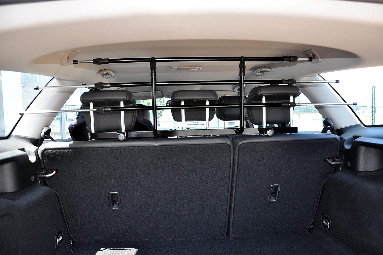 schwarz dobar 62201 Walky Guard an jedes Auto anpassbares Hundegitter 29-45 x 85-152 cm Robustes Trenngitter f/ür den Kofferraum