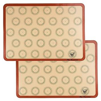 Velesco Silicone Macaron Backmatte Juego de 2 medias sábanas (grueso y grande 11 5/