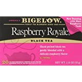Bigelow Raspberry Royale Black Tea, 20-Count Boxes (Pack of 6)