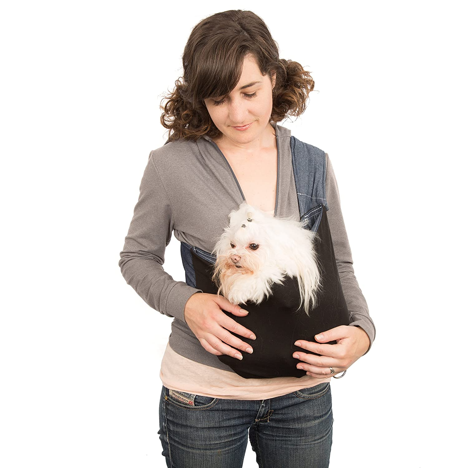 XL Ultimate Small Dog Carrier Sling By Kangapooch, Designed and Handmade in USA By Chelsea Snyder, Premium Jersey Knit Organic Cotton, Lifetime Warranty (XL)