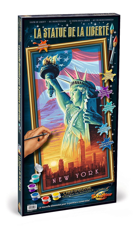 """Schipper - 609220496 - Peinture au Numéro Statue de la liberté """"Malen nach Zahlen, Freiheitstatue"""" 40 x 80 cm"""