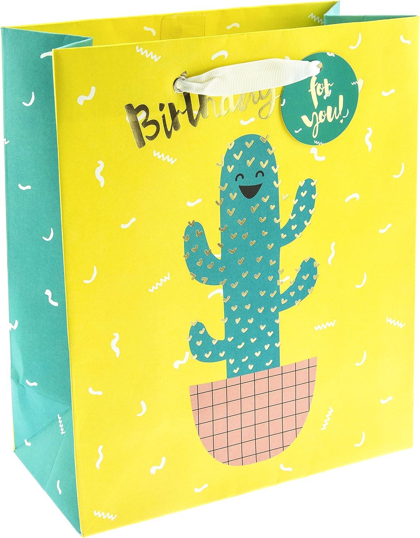 Graphique Cactus Hug - Bolsa de regalo mediana (GG0163): Amazon.es: Oficina y papelería