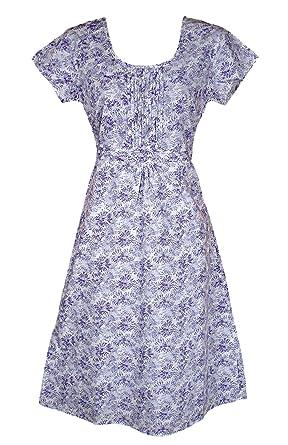 e536c1c53d1ff White Stuff Ladies Lilac Floral Print Cotton Summer Tea Dress (10)   Amazon.co.uk  Clothing