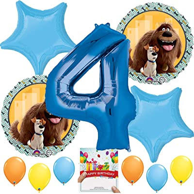 Secret Life of Pets Party Supplies Balloon Decoration Bundle for 4th Birthday: Toys & Games