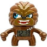 BulbBotz Star Wars Chewbacca Kinder-Wecker mit Hintergrundbeleuchtung | braun/schwarz | Kunststoff | 19 cm hoch | LCD-Display | Junge/ Mädchen | offiziell