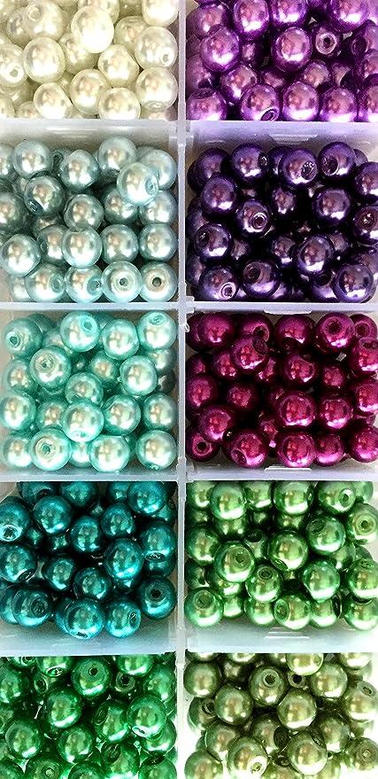 Quetschperlen Metall Perlen 6 Farben 2mm mit runder Plastikbox DIY vom Bastel Express