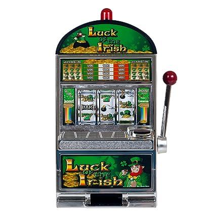 Luck irish slot machine game spinning roulette wheel animation