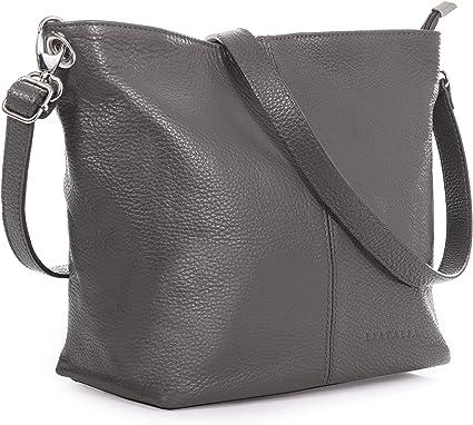 Medium Size Hobo Handbag Made with 100/% Italian Leather Stylish /& Elegant Top Quality Women/'s Purse LiaTalia Womens Shoulder Bag Genuine Soft Grained Leather Bag