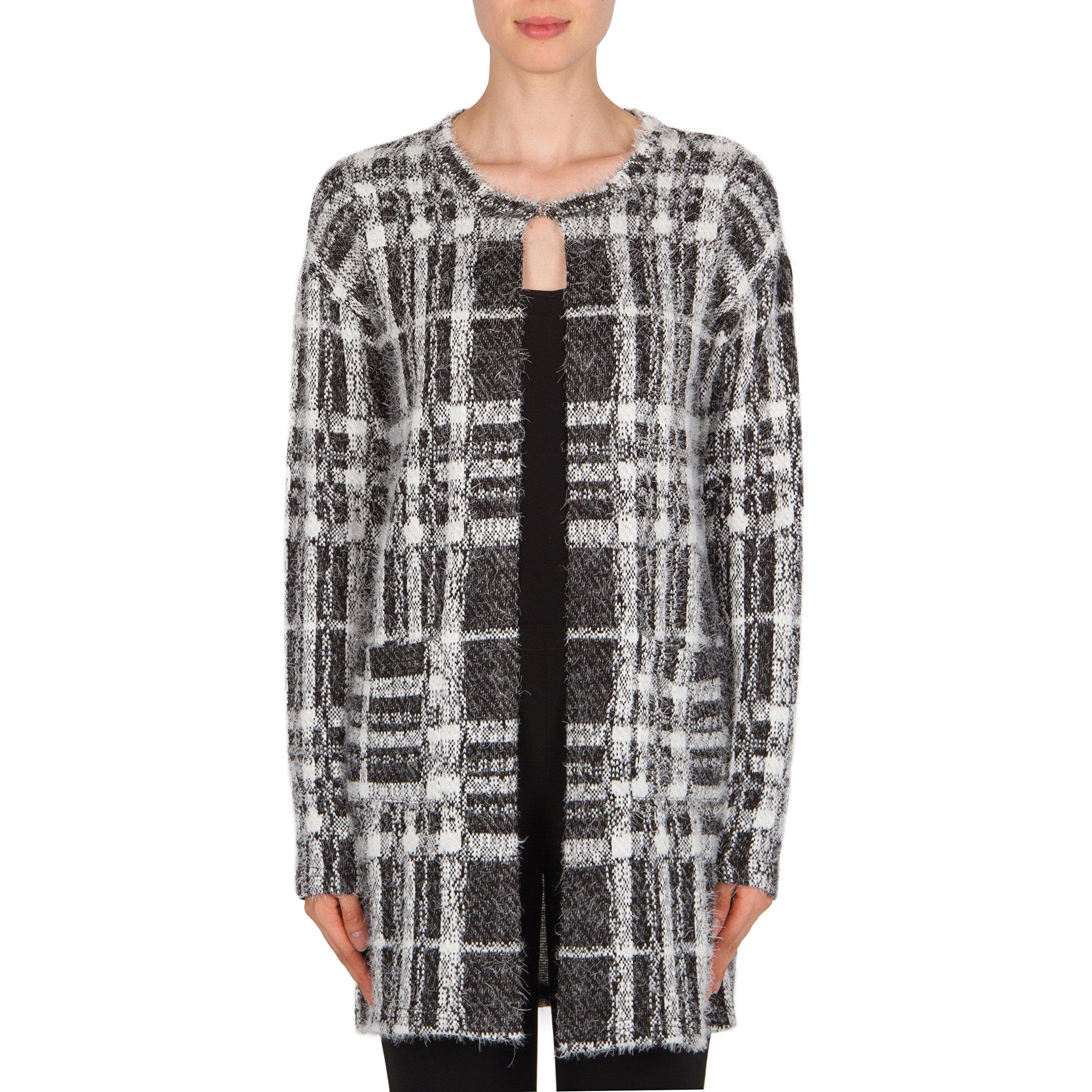 Joseph Ribkoff Mohair-Like Knit Tunic Length Jacket Style 174836 Size 14