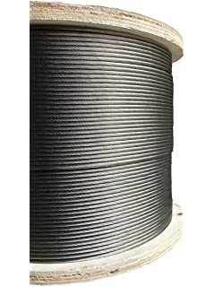 1000ft Stainless Steel Aircraft Cable Wire Rope 1 8 1x19 Marine Grade Type 316 Grade Amazon Com Industrial Scientific