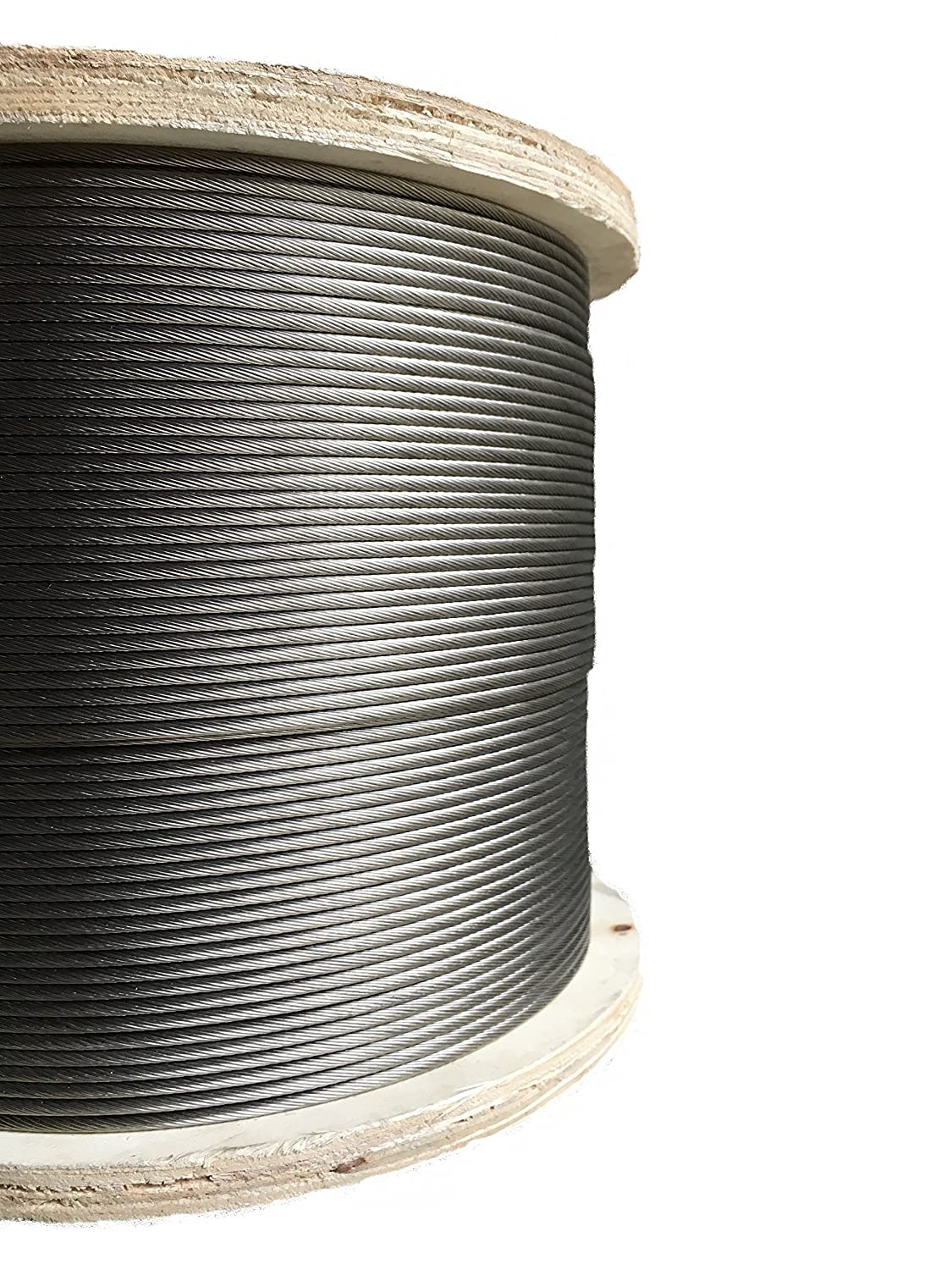 Image of Stainless Steel Aircraft Cable 1/8' 1x19 Type 316 Marine Grade 500ft Cable & Wire Rope