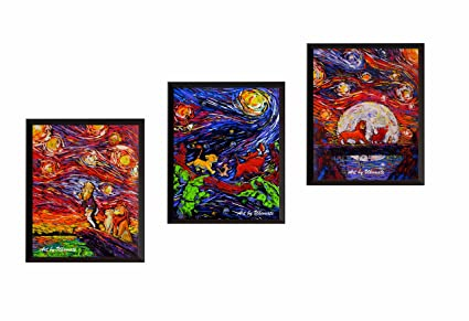 Amazoncom Uhomate 3 Pcs The Lion King Simba Lion King Van Gogh