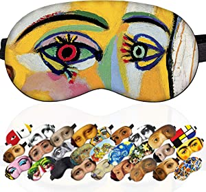 Night Sleep Mask Cover Blackout Dora Maar Picasso for Women Girls - 100% Soft Cotton - Comfortable Eye Sleeping Mask Night Cover Blindfold for Travel Airplane